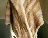 Hazelnut  Mink Fur Stole  /  Brown Stole / Mink Jacket