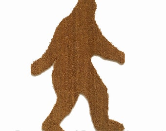 LARGE BIGFOOT shaped Sasquatch Yeti doormat outdoor welcome all weather
