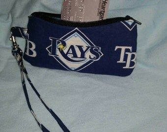 Rays MLB zipper coin purse pouch wristlet.