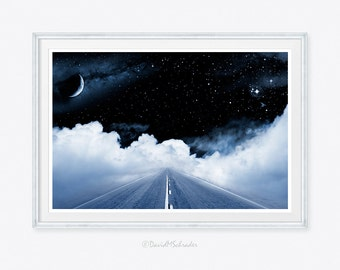 moon photo, moon art, moon photograph, galaxy photo, stars photo, stars photograph, surreal photograph, surrealistic photo, children decor