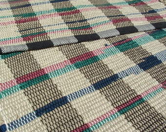 "Handcrafted Rag rug 36""x 22"" handwoven mat Chindi Rug Woven Textured Rug"