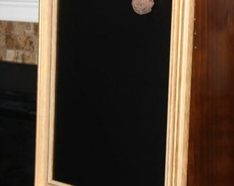 Large, Gold-Framed, Magnetic Chalkboard-Weddings/Home/Restaurants (19 1/2 x 25 inches)