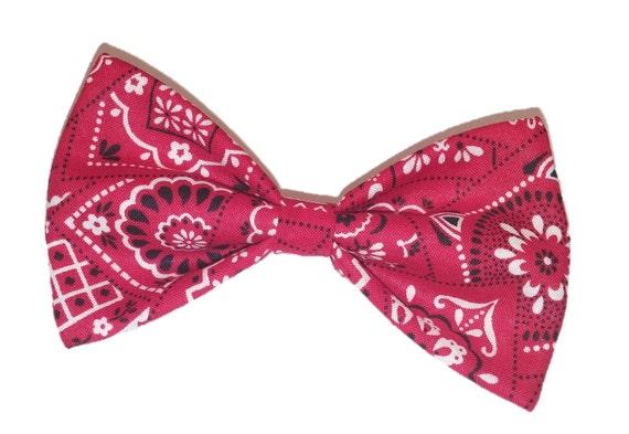 bandana bow tie bow tie cat bowtie hair clip