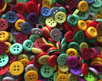 100 pcs Mix colors buttons size 11 mm