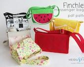 NEW finchley messenger bag child bag purse backpack carrier BONUS wallet sewing pattern pdf