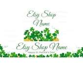 Etsy Banners - Etsy Shop Banners - St Patricks Day Etsy Banners - Saint Patrick's Day Etsy 6 - 2 Piece Set