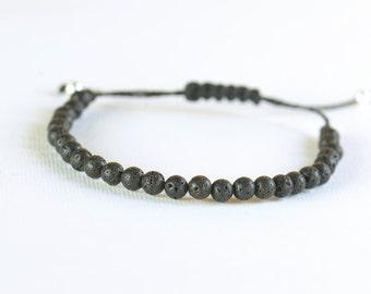 Lava beads bracelet-Mother nature-Volcano bracelet-Black bracelet