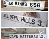 Outer Banks Custom Miles Vintage Style Sign  Choose your Mileage