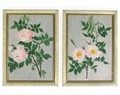 Two Original Vintage Floral Paintings