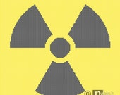 Radioactive Hazard Trefoil Cross Stitch Pattern PDF