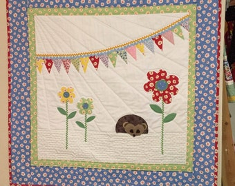 Hedgehog Baby Quilt Pattern by Ellen Abshier of Laugh Sew Quilt