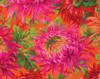 Philip Jacobs Mums on Red Free Spirit Fabric pwpj072red