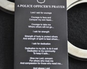 Police Officer Prayer Metal Wallet Card, for Cops, Sheriff, Deputy, Police Officer Spouce, Police Academy Graduate by JackGlass on Etsy