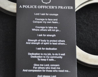 Police Officer Prayer Metal Wallet Card, for Cops, Sheriff, Deputy, Police Officer Spouce, Wife Husband by JackGlass on Etsy