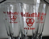 Ballantine Pilsner  Glass Set of (6), Breweriana, Man Cave Decor, Gifts under 20
