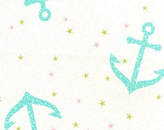 Michael Miller - Into the Deep Collection - Starfish Anchors in Pearl - Half Yard