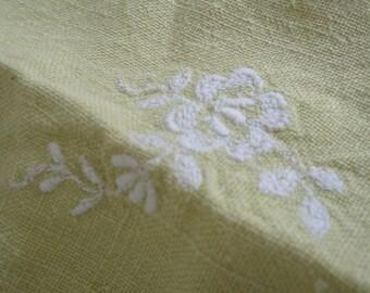 Vintage Napkins Linen Lime set of 3