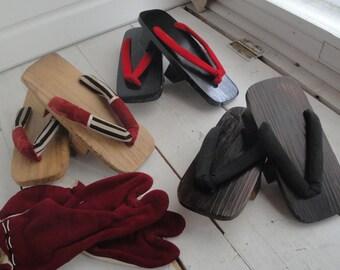 Vintage Geta Japanese Shoes