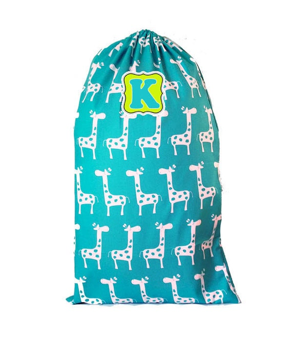 Kids Summer Camp Bag, Huge Personalized Laundry Bag, College Laundry Bag, 50 fabric options, DYO, Large Travel Laundry Bag, Laundry Totebag