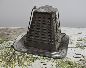 Vintage camping toaster, vintage open flame toaster