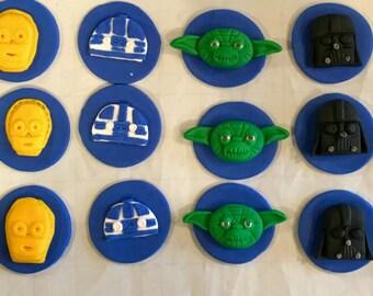 Star Wars fondant cupcake toppers