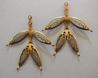Oxidized Brass Leaf Findings