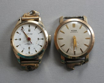 2 Vintage Watch Movements And Cases - Medana And Cimier