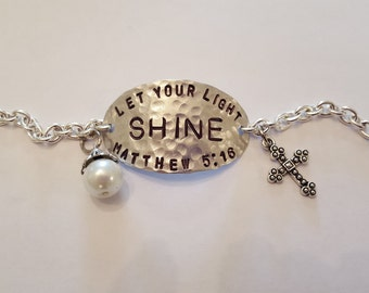 Let your Light Shine Scripture Bracelet
