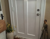Home Sweet Home Farmhouse Country Ticking door draft stopper/blocker/insulator cotton ticking hearts