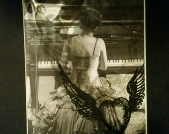 "Amanda Palmer (AFP) Matted Original Print ""47 Strings"" Series 1, 7 of 8"