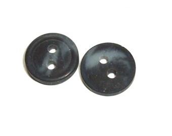 Small Dark Blue Button Destash 2 Hole 119 Buttons