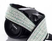Camera Strap, dSLR, Happy Thoughts, Pocket, Inspirational, Quotes, SLR Camera Strap, Canon, Nikon, Camera Neck Strap, Photographer, 1 ecc