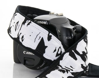dSLR Camera Strap, Black and White, Faces, Portraits, Photo Booth, Pocket, SLR, 148 w