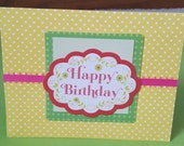 Happy Birthday Polka Dotted Greeting Card