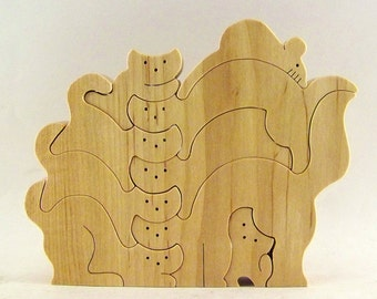 Kitty Krak-Up Wood Puzzle