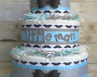 The Stache Diaper Cake