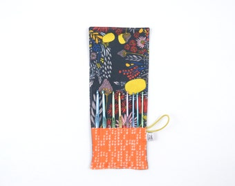 Mini Crochet Hook Case - Morning Walk - crochet hook organizer crochet hook holder