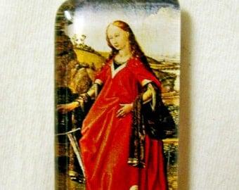 Saint Katherine pendant with chain - GP01-593