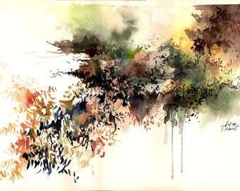 Watercolor - Original watercolour - Spring melody