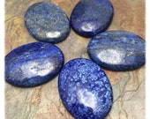 Lapis 40x30mm Oval Cabochon 1 PC, Wire Wrap, Setting Stone