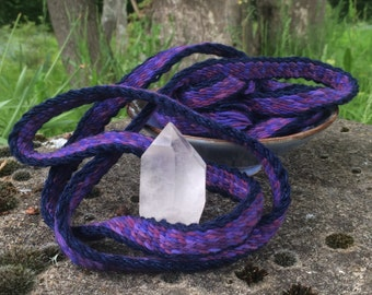 """Tablet woven medieval viking trim for LARP SCA or fantasy reenactment - """"Midnight & Heather"""""""""""