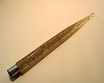 Vintage Lucite Glitter Taper Candle