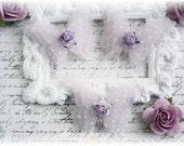 Shabby Vellum Butterfly Embellishments for Scrapbooking, Cardmaking, Altered Art, Tag Art, Mini Album, Lavender