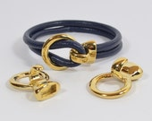 25% OFF One Piece Hook Clasp for 5mm Round Leather - Gold Plated - Choose Your Quantity