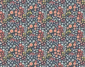 1 yard - Woodland Petal in Navy, Woodland spring collection by Dani Mogstad, Riley Blake fabrics