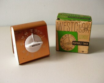 Vintage mid-century copper timer 1950s Kitchen timer