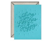 Lots + Lots of Happy congrats birthday letterpress card