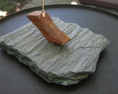 Incense Burner Slate, Wood and Copper Stick Incense Holder Slate Incense Burner OOAK