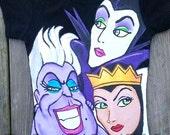 3 Disney Villains girls or boys Boutique custom painted 12 18 24 2 3 4 5 6 shirt