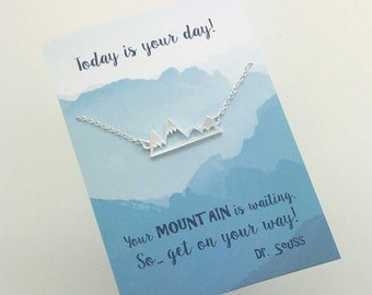 Gold or Silver Mountain Necklace - Gold or silver Bar Mountain Necklace - choose carded your mountain is waiting or in a silver gift box